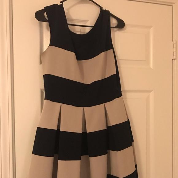 Tiana B. Dresses & Skirts - Nautical Striped Pleated Dress